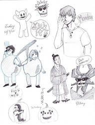 Daily Doodles Week 19 by YuYuchan