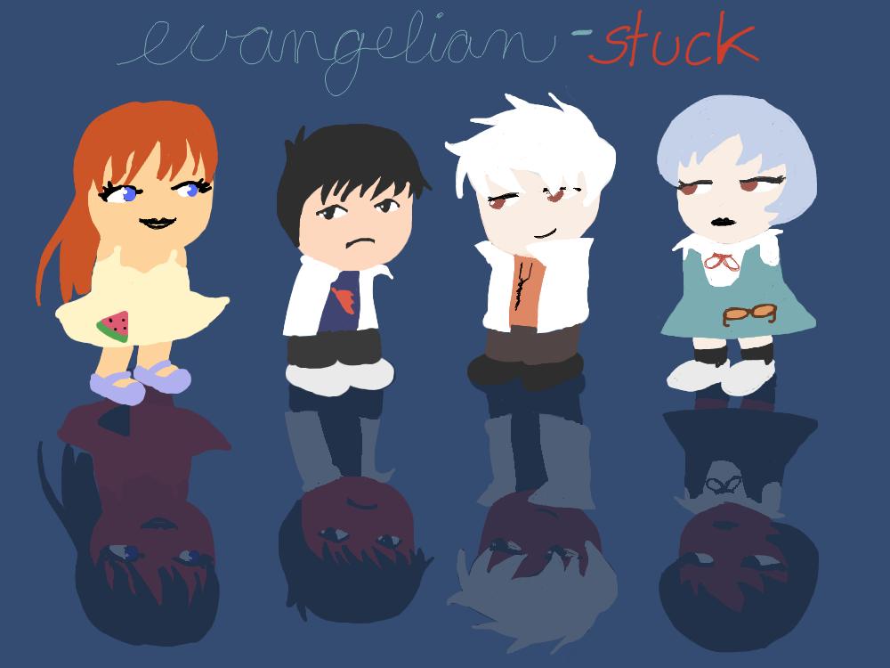 Evangelion- Stuck by YuYuchan