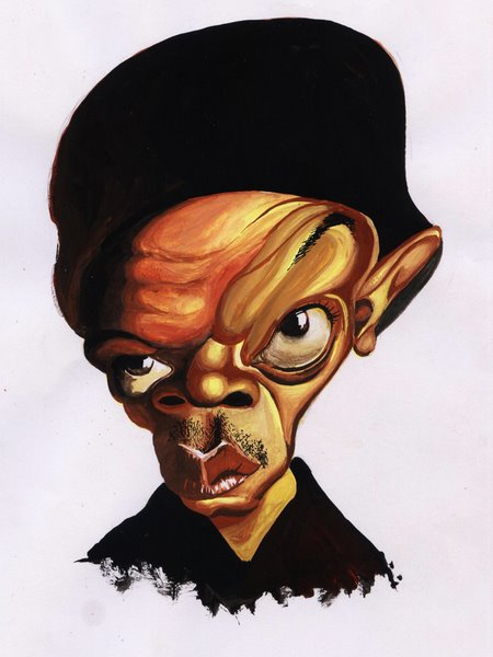 samuel jackson caricature...