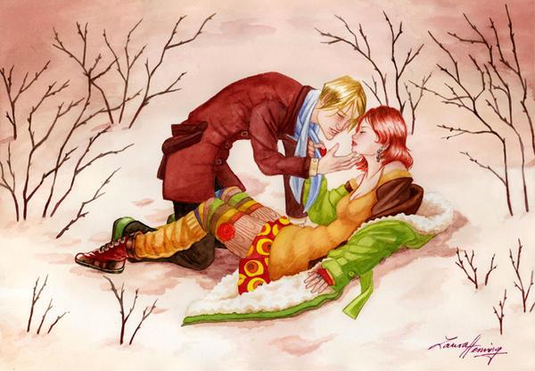 Winter love by Scharach