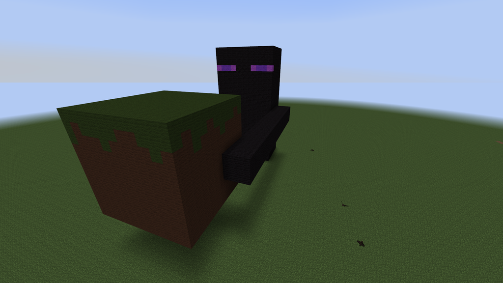 Minecraft Enderman Build by VintageBluex