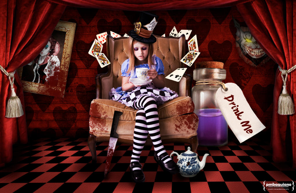 Red Curtains red checkered curtains : The Dark Side of Alice by justonme on DeviantArt