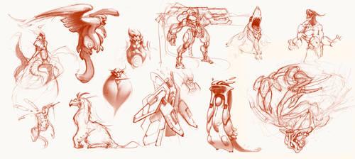 some sketches by DecadentSky