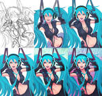 Hatsune Miku - the process