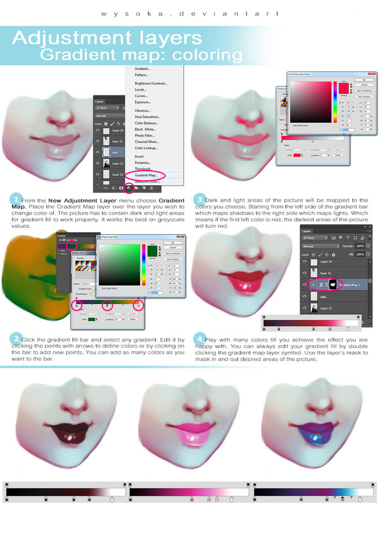 Tutorial - Coloring with Gradient Maps by wysoka on DeviantArt