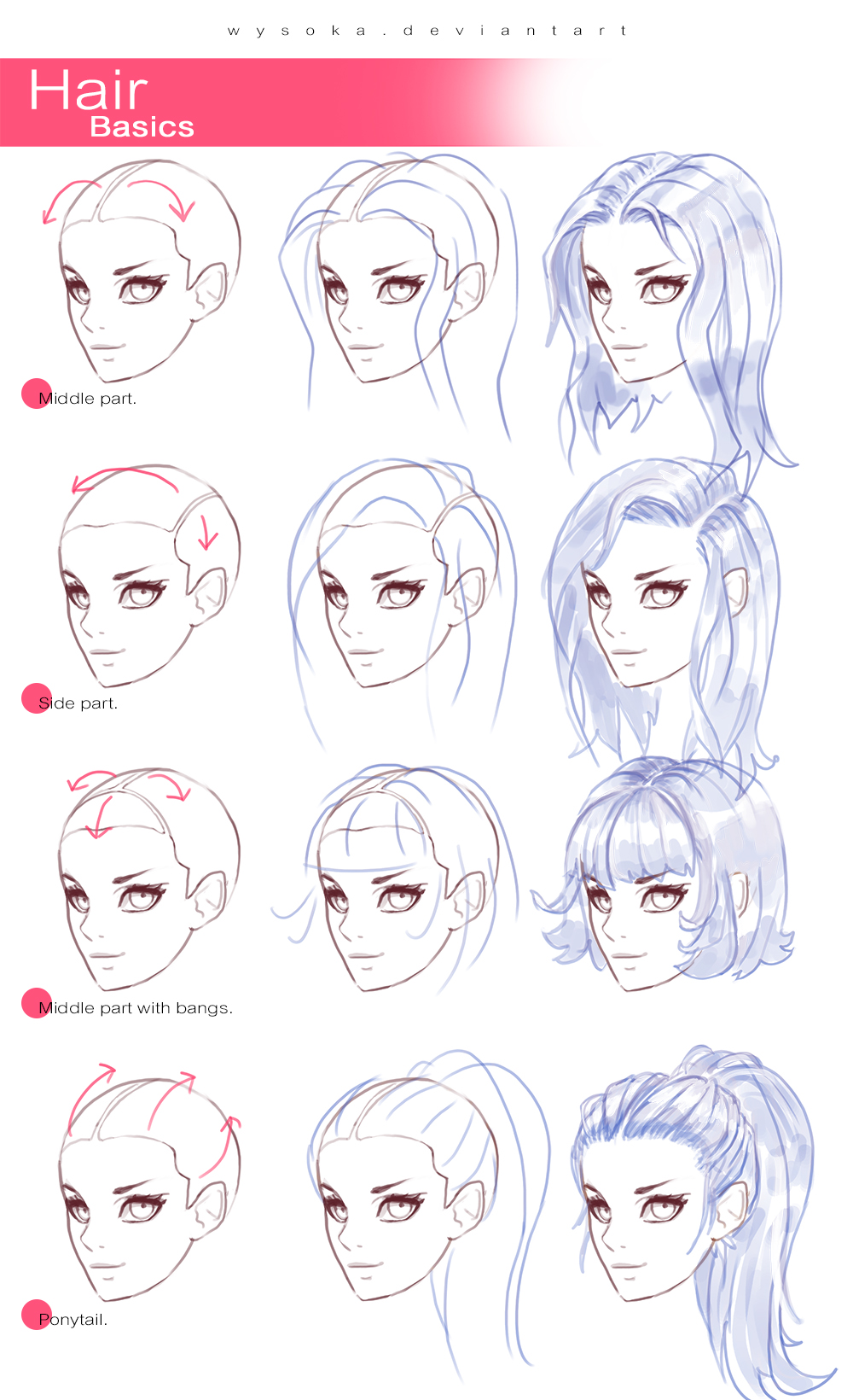 How To Draw Hair 2 By Wysoka On Deviantart