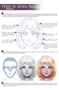 How To Draw Face - basics