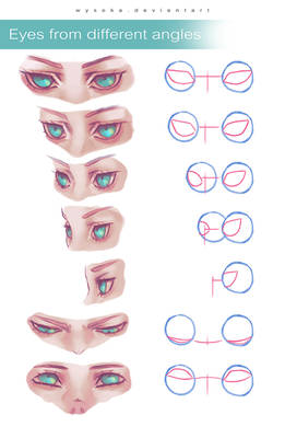 How To Draw Eyes In Angles