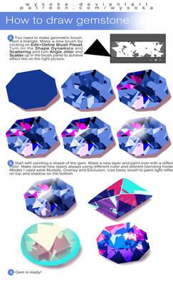 How To Draw Gemstones