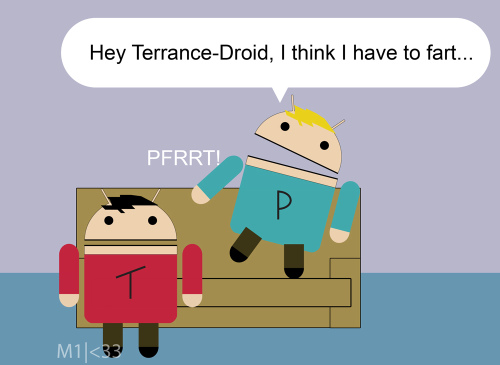 Terrance and Phillip Androids by mikee99