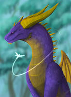 Adult Spyro by Hato