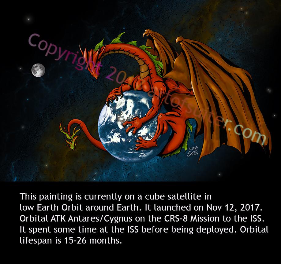 Orbital Space Dragon by Dragonlourde