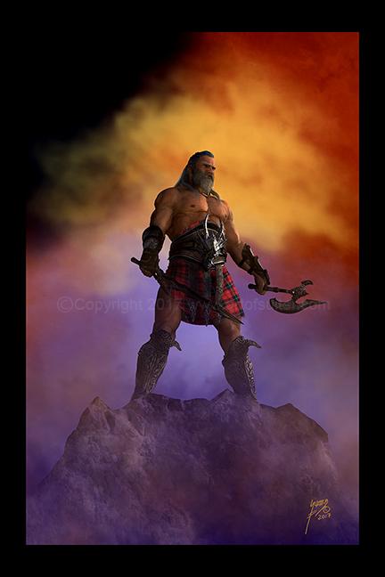 Barbarian Overlook by Dragonlourde