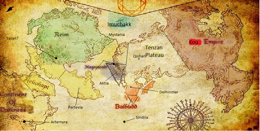 High Quality And Well Detailed World Map Of Magi S World Magi