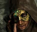 Garrett in mask