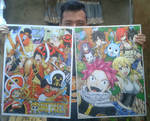 One Piece Film Z and Fairy Tail Redraw