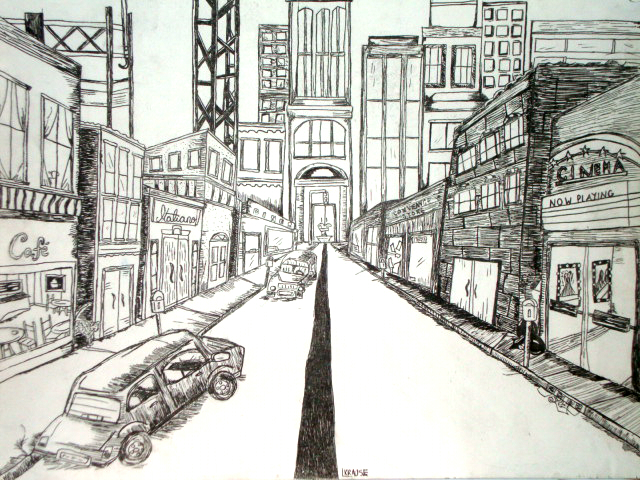 Cool One Point Perspective Drawings One Point Perspective ...