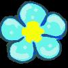 clipart Flash Element Flower Blue by primavistax