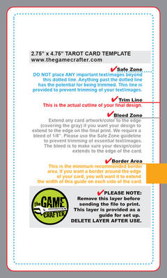 The gamecrafter tarot-card template with guideline