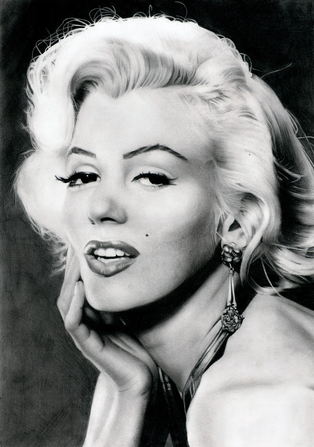 Marilyn Monroe's portrait by Stanbos
