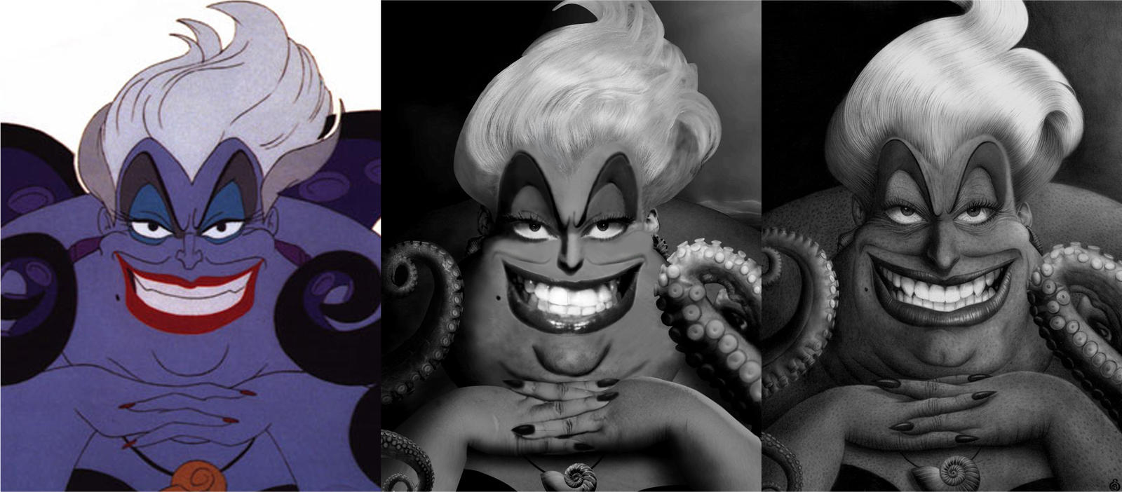 Ursula - From the movie to the drawing by Stanbos