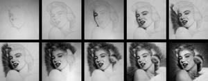 Marilyn Monroe - Pooh pooh bee doo - WIP by Stanbos