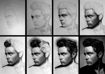 James Dean - WIP by Stanbos