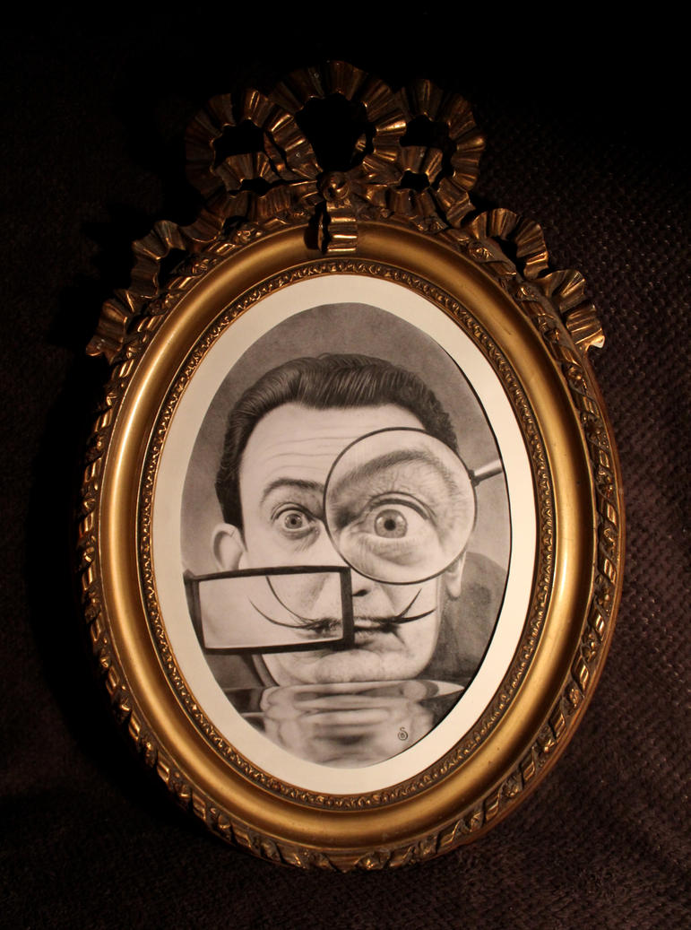 Salvado Dali - With frame by Stanbos
