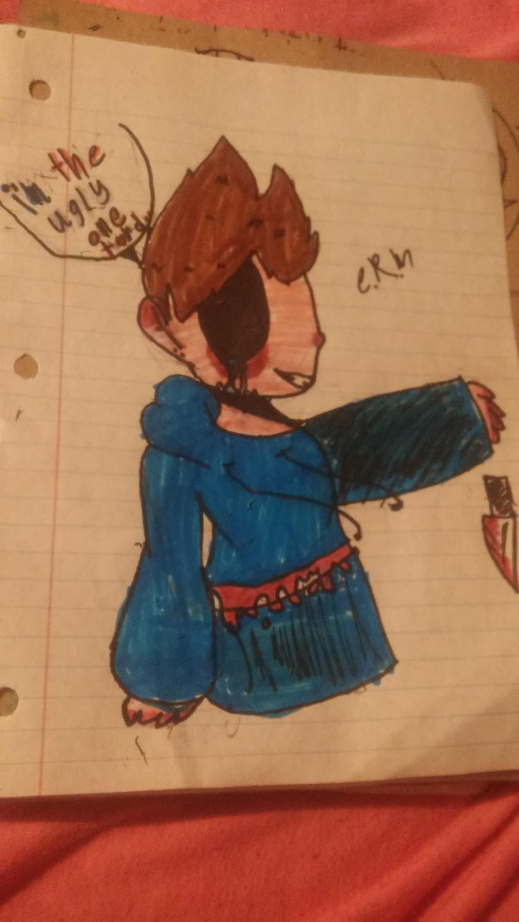 I'm the ugly one Tord by lilylacymyworld