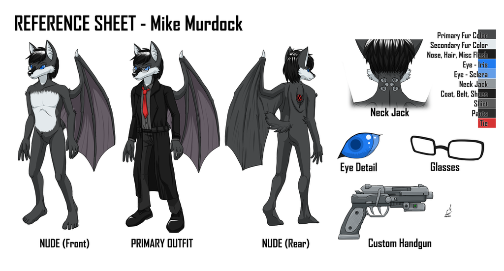 Reference Sheet: Mike Murdock by prdarkfox