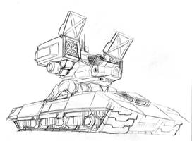 DG Lunch Sketchbook 1: CataTank by prdarkfox