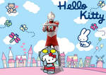 Kitty and Ultraman by blackrebeu