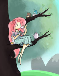 Tree top Tea Party by TwitchyKismet
