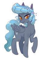 Coldsnap Flower Horsie by TwitchyKismet