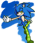 Sonic with long stockings