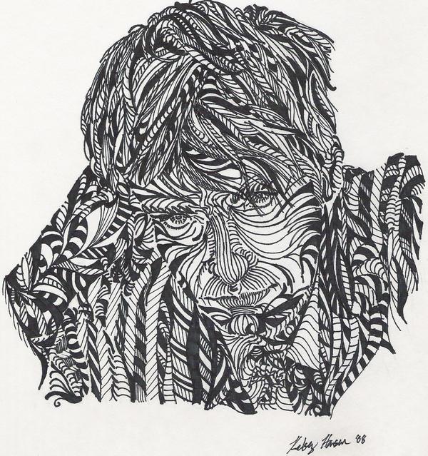 Cross Contour Line Drawing Face : Hugh jackman cross contour by pegacorn master on deviantart