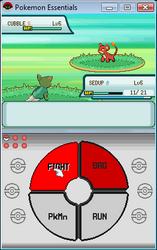 Pokemon Titanium Battle menu by Darkness2118