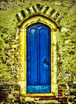 The Door Of Blue Old House
