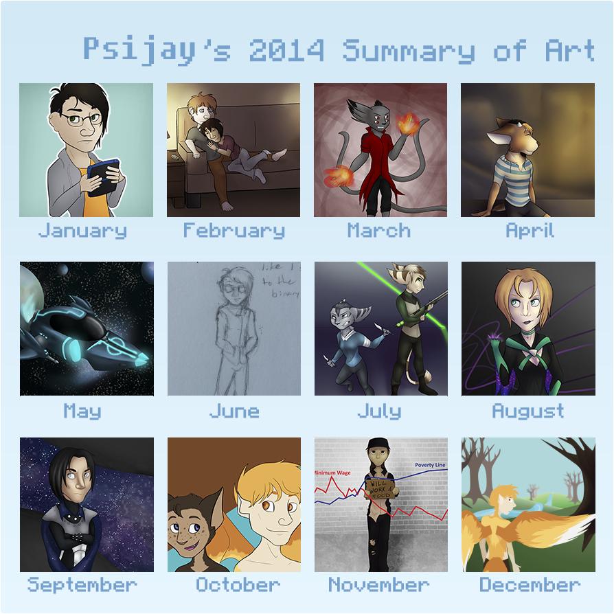 2014 Summary of Art by Psijay