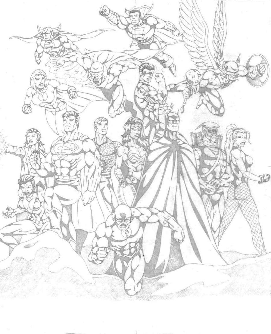New 52 Justice League Coloring Coloring Pages