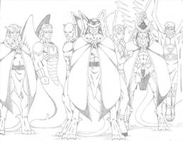 Gargoyles_Leaders by darkclaw1303