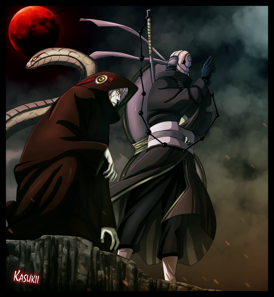 naruto 520 Tobi and Kabuto by Kasukiii