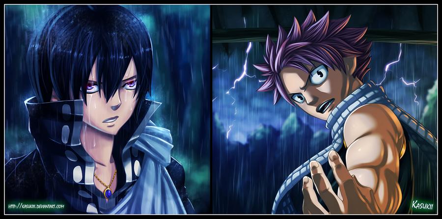Zeref and Natsu by Kasukiii