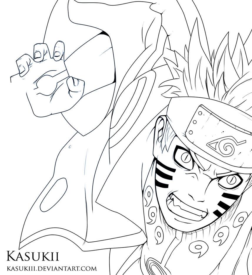 Line Art Vs Painting : Naruto lineart by kasukiii on deviantart