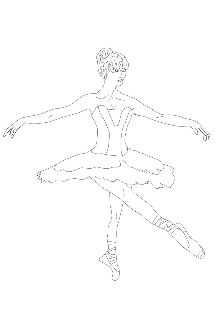 Dancing away the pain... [Line Art-WIP] by LaylaSerenity