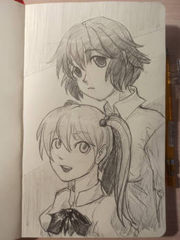 Rin And Emi from Katawa Shoujo