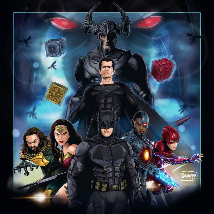 Justice League Poster Black Suit