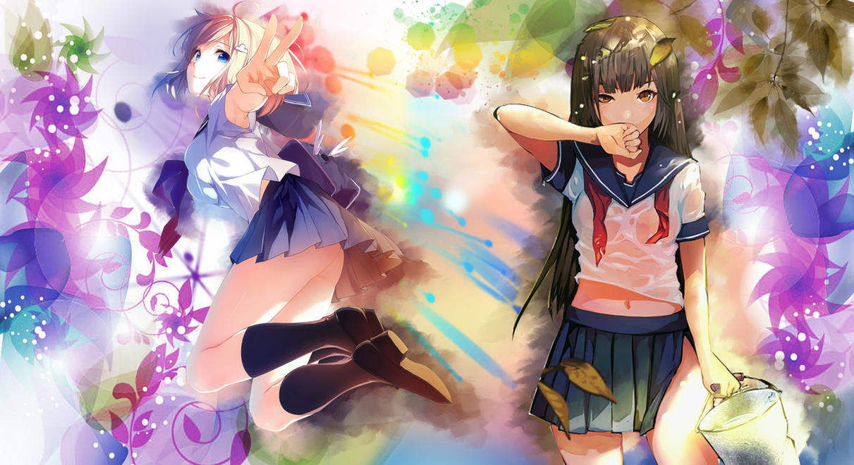 Colorful Anime Wallpaper By Sislex On Deviantart Colorful Anime