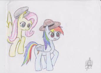 Pegasi with Hats by MetalH24