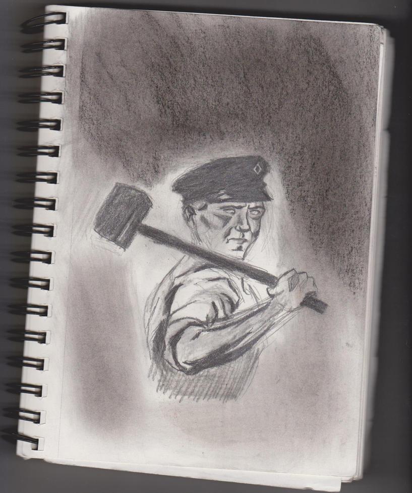 Working man Sketch by MetalH24